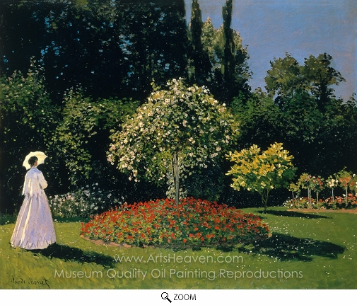 Claude Monet, Jeanne-Marguerite Lecadre in the Garden oil painting reproduction