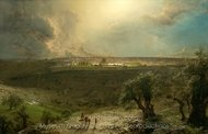 Jerusalem from the Mount of Olives painting reproduction, Frederic Edwin Church