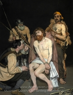 Jesus Mocked by the Soldiers painting reproduction, �douard Manet