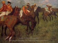 Jockeys painting reproduction, Edgar Degas