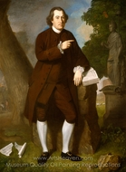 John Beale Bordley painting reproduction, Charles Willson Peale