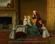 John, Fourteenth Lord Willoughby de Broke, and His Family painting reproduction, Johann Zoffany