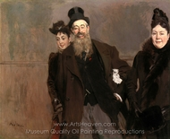 John Lewis Brown with Wife and Daughter painting reproduction, Giovanni Boldini