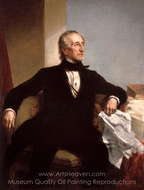 John Tyler painting reproduction, George P. A. Healy