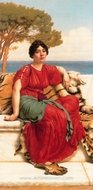 John W. by the Blue Ionian Sea painting reproduction, John William Godward