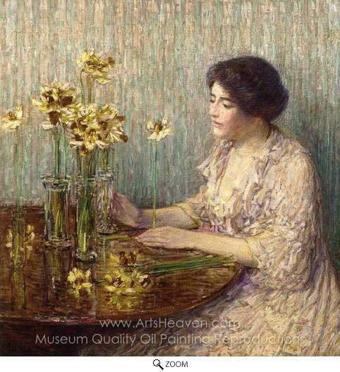 Childe Hassam, Jonquils oil painting reproduction