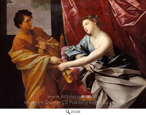 Guido Reni, Joseph and Potiphar's Wife oil painting reproduction