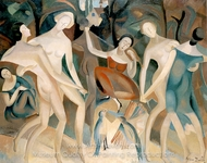 Joy in the Forest painting reproduction, Alice Bailly