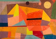Joyful Mountain Landscape painting reproduction, Paul Klee
