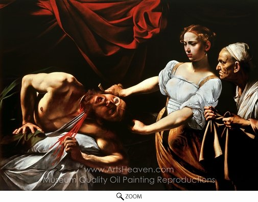 Caravaggio, Judith Beheading Holofernes oil painting reproduction