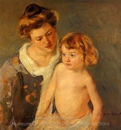Jules Standing by His Mother painting reproduction, Mary Cassatt