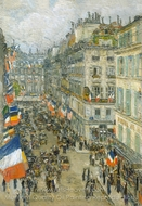 July Fourteenth, Rue Daunou, 1910 painting reproduction, Childe Hassam