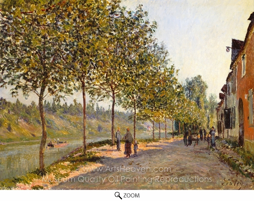 Alfred Sisley, June Morning in Saint-Mammes oil painting reproduction