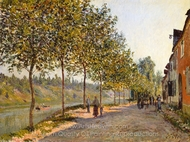 June Morning in Saint-Mammes painting reproduction, Alfred Sisley