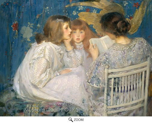 James Jebusa Shannon, Jungle Tales (Contes de la Jungle) oil painting reproduction