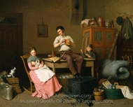 Just Moved painting reproduction, Henry Mosler