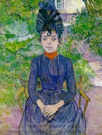 Justine Dieuhl painting reproduction, Henri De Toulouse-Lautrec