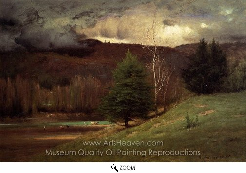 George Inness, Kearsarge Village oil painting reproduction