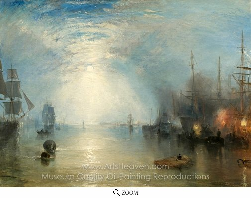 Joseph M. W. Turner, Keelmen Heaving in Coals by Night oil painting reproduction