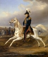 King William I of Wurttemberg on Horseback painting reproduction, Albrecht Adam