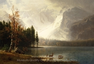 Kings River Canyon,California painting reproduction, Albert Bierstadt