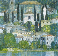 Kirche in Cassone painting reproduction, Gustav Klimt