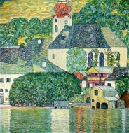 Kirche in Unterach am Attersee painting reproduction, Gustav Klimt