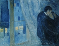 Kiss by the Window painting reproduction, Edvard Munch