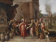 Kronsus Shows Solon His Treasures painting reproduction, Frans Francken