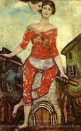 L'Acrobate painting reproduction, Marc Chagall (inspired by)