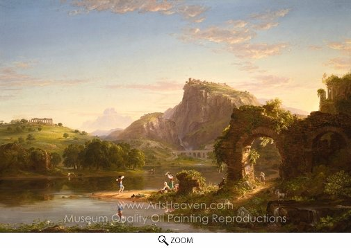 Thomas Cole, L'Allegro oil painting reproduction