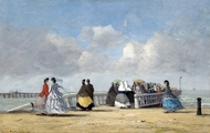 L'embarcadere a Trouville painting reproduction, Eugene-Louis Boudin