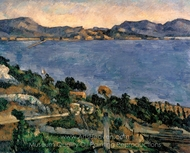 L'Estaque painting reproduction, Paul C�zanne