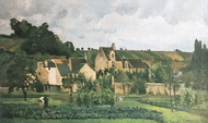L'Hermitage a Pontoise painting reproduction, Camille Pissarro