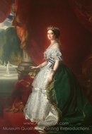 L'Imperatrice Eugenie painting reproduction, Franz Xavier Winterhalter
