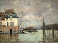 L'Inondation a Port-Marly painting reproduction, Alfred Sisley