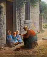 La Becquee painting reproduction, Jean-Francois Millet