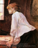 La Blanchisseuse (The Laundress) painting reproduction, Henri De Toulouse-Lautrec