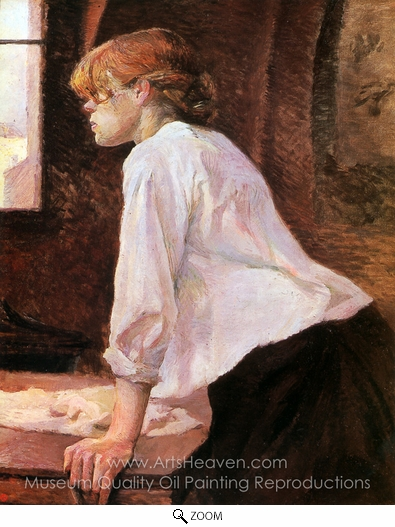 Henri De Toulouse-Lautrec, La Blanchisseuse (The Laundress) oil painting reproduction