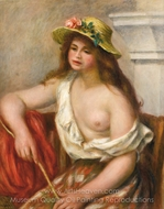 La Bohemienne painting reproduction, Pierre-Auguste Renoir