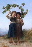 La Branche de Cerisier (The Cherry Branch) painting reproduction, William A. Bouguereau