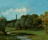 La Bretonnerie in the Department of Indre painting reproduction, Gustave Courbet