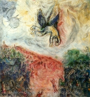 La Chute D'Icare painting reproduction, Marc Chagall (inspired by)