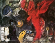 La Chute de L'ange painting reproduction, Marc Chagall (inspired by)