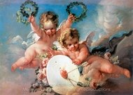 Love Target (La Cible D'Amour) painting reproduction, Francois Boucher