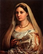 La Donna Velata painting reproduction, Raphael Sanzio