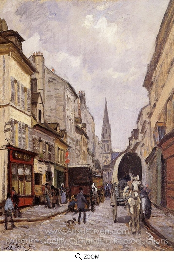 Alfred Sisley, La Grande-Rue, Argenteuil oil painting reproduction