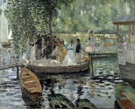 La Grenouillere painting reproduction, Pierre-Auguste Renoir