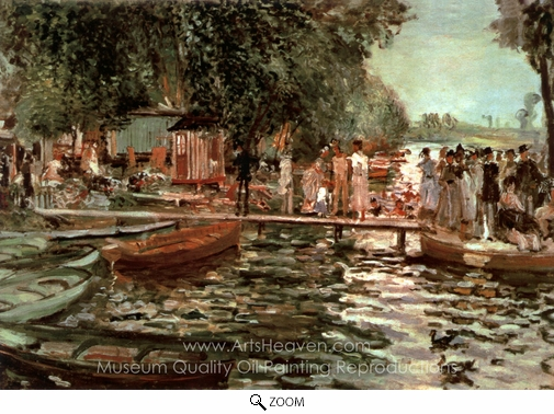 Pierre-Auguste Renoir, La Grenouillere oil painting reproduction