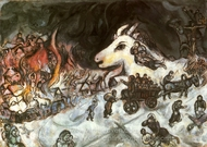 La Guerre painting reproduction, Marc Chagall (inspired by)